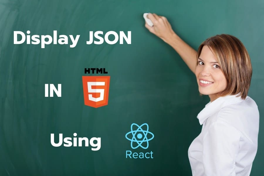 JSON data in html with react