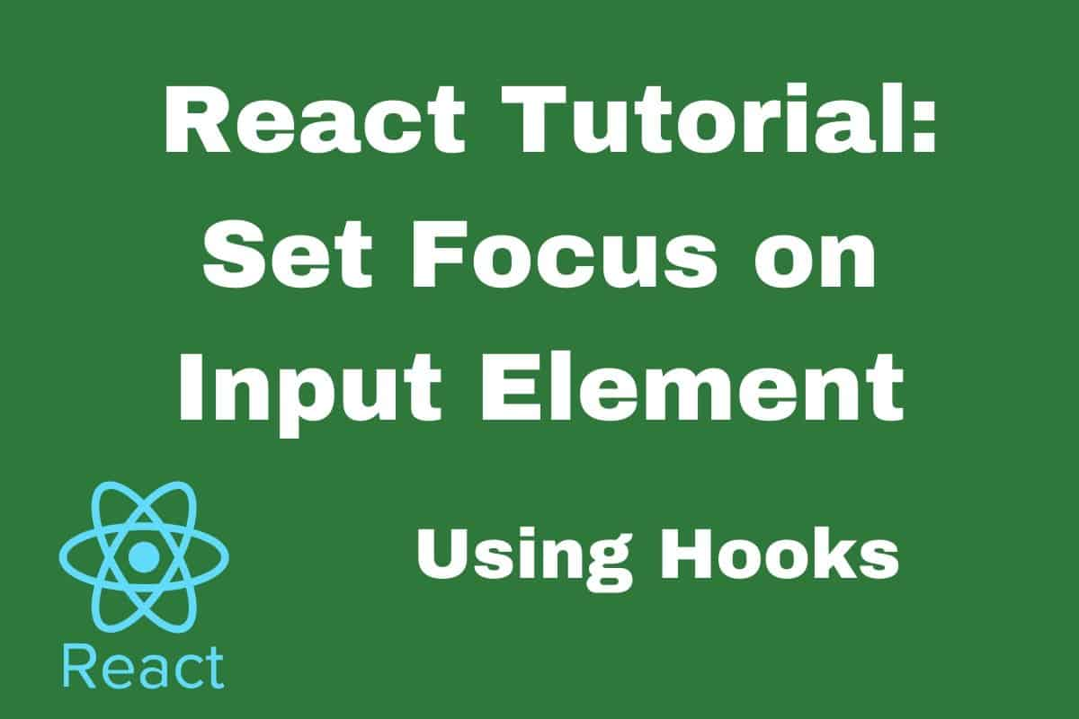 How to Set Focus on an Input Element in React using Hooks